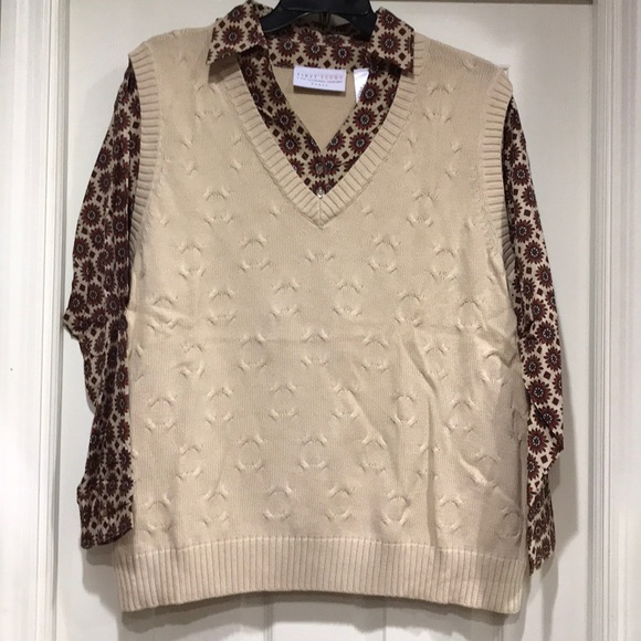 Liz Claiborne Sweaters Nwot First Issue Sweaterblouse Combo Poshmark